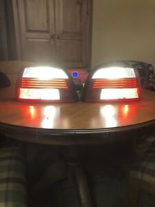 Bmw E39 5 Series 01 03 Left Right Red Clear Led Tail Lights Hella Oem Used