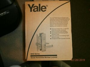 New Yale 8800 Series Mortise Lockset Quick Reversible