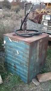130 Gallon Fuel Transfer Tank Storage Gas Oil Diesel Biodiesel Kerosene Vintage