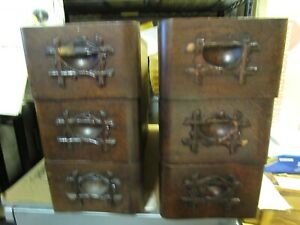 6 Antique Treadle Sewing Machine Drawers White Sewing Machine Cabinet Drawers
