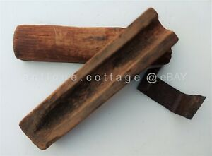 1700s Antique Early Wood Cigar Mold Hand Whittled Folk Art Aafa Treenware Candle