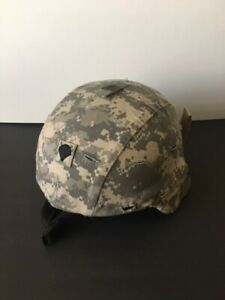 USGI ACH MICH Combat Helmet Used Issued with pads and straps - Large