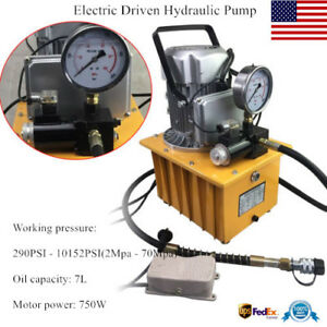 10000psi Electric Driven Hydraulic Pump Pedal Solenoid Valve Single Acting Power