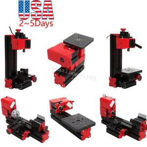 6 In 1 Lathe Diy Machine Tool Kit Jigsaw Milling Lathe Drilling Machine Us Fast