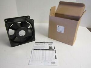 New Aluminum Square Axial Fan 115 Vac 6 15 16 X 6 15 16 With Terminals