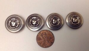 Lots Of Vintage Rose Metal Buttons