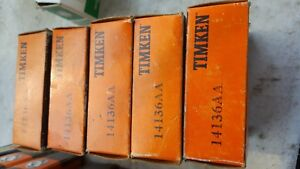 Vintage Nos Timken 14136 aa Cone Tapered Roller Bearing