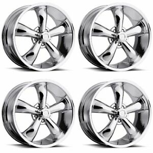 Set 4 17 Vision 142 Legend Classic Chrome Wheels 17x7 5x4 5 06mm 5 Lug 5 Lug