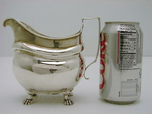 Coin Silver Cream Pitcher John P Targee New York New York C1810 Hand Hammered