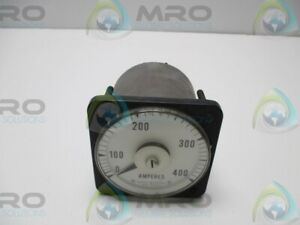 General Electric 8ab18a7al1 Panel Meter 0 400ac Ammeter Used