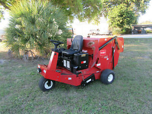 Lawn Turf Sweeper Toro 4800 Great Spring Fall Cleanups 224 Hrs Runs Good