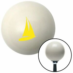 Yellow Sailboat Ivory Shift Knob With 16mm X 1 5 Insert Parts Model A Accessory