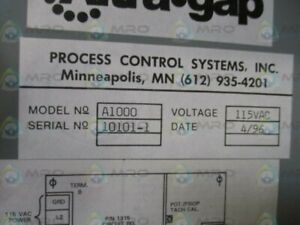 Process Control System Maxigard A1000 Motion Switch used