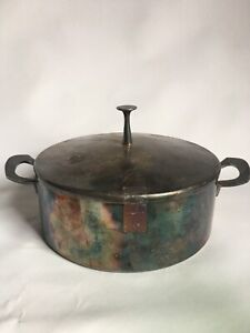 Reed Barton Silver Plate Casserole Pot With Lid Handles Deco Design 1163 Lid