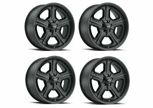 Set 4 15 Vision American Muscle 147 Daytona Satin Black Wheels 15x7 5x4 5 6mm