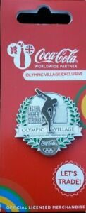 OFFICIAL COCA COLA COKE LONDON 2012 OLYMPIC ATHLETES VILLAGE PIN BADGE (MOC)