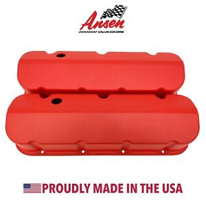 Big Block Chevy Tall Valve Covers Red Bbc Die cast Aluminum Ansen Usa