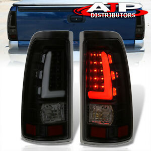 Dark Smoked Tube Led Tail Lights Lamps Left Right For 1999 2006 Silverado Sierra