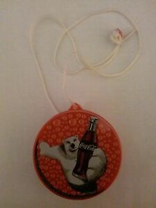 Coca Cola Necklace Safe-Polar Bear on Lid (3 In.)(2000) Plastic (New in Package)