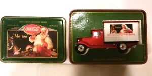 Coca Cola 1930 CHEVY DELIVERY TRUCK IN TIN 1995 Christmas Edition 1:43 Scale