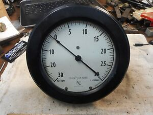 Ashcroft 30 To 30 Psi 7 1 2 Dial Vacuum pressure Measuring Gauge meter