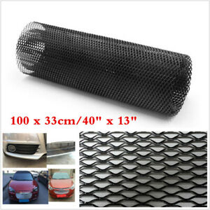 Car Vehicle Body Grille Net 40x13 Universal Aluminum Black Mesh Grille Section Fits 1955 Ford