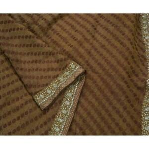 Tcw Vintage Saree 100 Pure Silk Hand Beaded Fabric Premium Cultural Sari