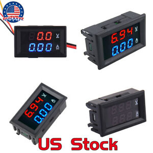 Low Voltage Car High Precision Digital Meter Voltmeter Ammeter Blue Red Led Us