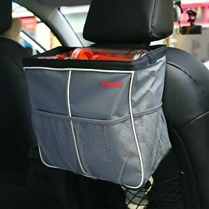 New Auto Car Seat Back Storage Bag Big Waterproof Organizer Holder Accessory Gra