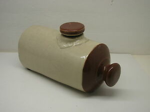 Antique Stoneware Pottery Hot Water Foot Warmer Crock 2 Quart