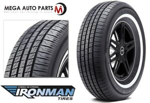 1 New Ironman Rb 12 Nws 225 75r15 102s White Wall All Season Performance Tires