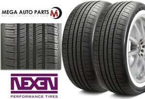 2 New Nexen N priz Ah5 225 75r15 102s White Wall All Season Performance Tires