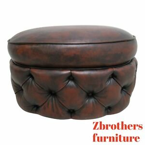 Councill Craftsman Furniture New Orleans Chesterfield Foot Stool Ottoman