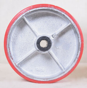 8 X 2 1 2 Non Marking Rubber Caster Wheel 3 4 Opening