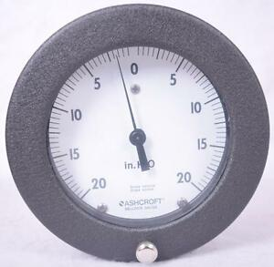 Ashcroft 45 1187as 02b Pressure Gauge 4 Face npt 20psi H o Trerice