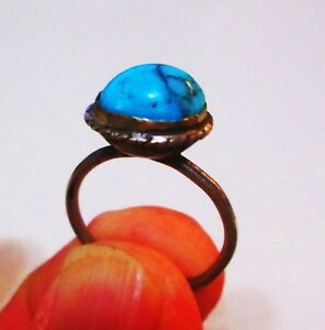Persia Qajar Era Antique Persian Silver Ring Turquoise Like Stone