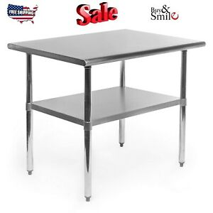 Gridmann Nsf Stainless Steel Commercial Kitchen Prep Work Table 36 In X 24