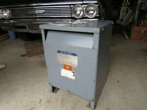 Square D 15 Kva Single Phase Transformer High Voltage 480 Low Volts 120 240