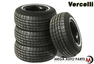 4 New Vercelli 787 P215 75r14 98s Wsw All Season Tires