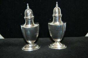 Antique Webster Sterling Silver Salt Pepper Shakers 63 Grams Pre Owned
