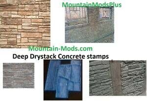 Dry Stack Stone Decerative Faux Ledgestone Vertical Concrete Cement Stamp Mat