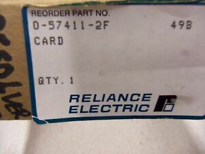 Reliance Electric Resolver Input Module 57411 2f new In Box