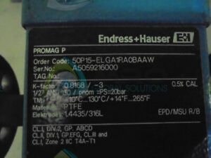 Endress Hauser | MCS Industrial Solutions and Online