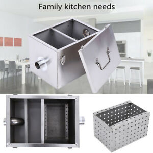 Commercial Kitchen Grease Trap Interceptor Stainless Steel Filter Kit 5gpm