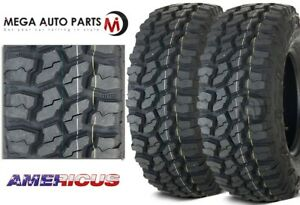 2 New Americus Rugged Mt 31x10 50r15lt 109q C 6 All Terrain Mud Tires
