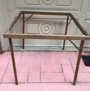 Vintage Folding Wood Card Table 30 X 30 X 27 Inches Tall Antique Parts
