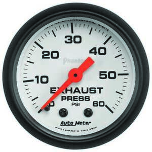 Exhaust Pressure Gauge 0 60psi Phantom Series Auto Meter 5725