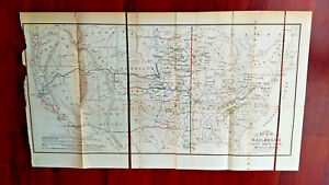 Late 1800s Us Map Railroads Missouri River Indian Territory Central Pacific R R