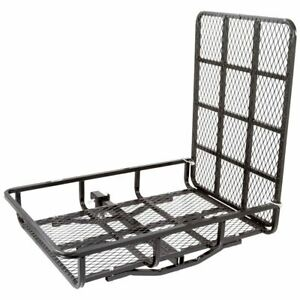 Apex Hitch Mounted Steel Cargo Carrier With Ramp 500 Lb Capacity