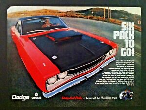 1969 Dodge Super Bee Nhra Coronet Six Pack Ready To Display Car Ad 1968 1970